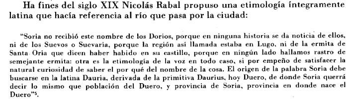 Dauria, nombre de Soria por Nicolas Rabal